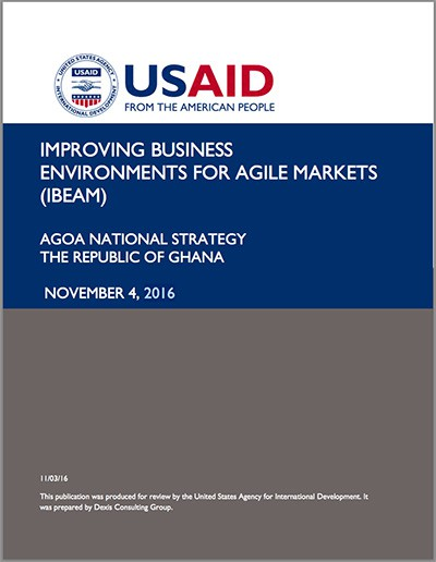 Ghana - National AGOA Strategy