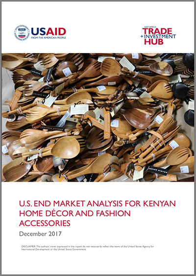 US end-market analysis for Kenyan home decor and fashion accessories
