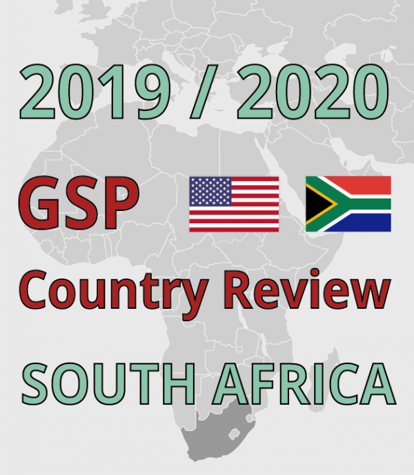 South Africa GSP Review Submission: American University Program on Information Justice and Intellectual Property