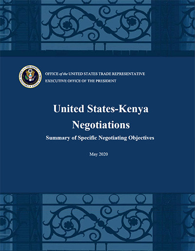 US-Kenya FTA negotiating principles - May 2020