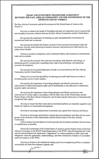 EAC - United States (TIFA)