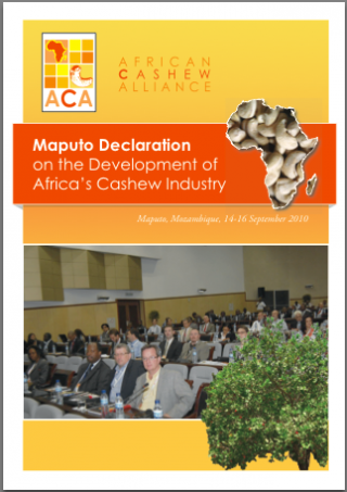 Maputo declaration on the development of Africa's cashew industry alliance