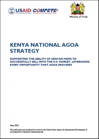 Kenya - National AGOA Strategy 2012 (new version below)