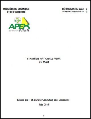 Mali - National AGOA Strategy
