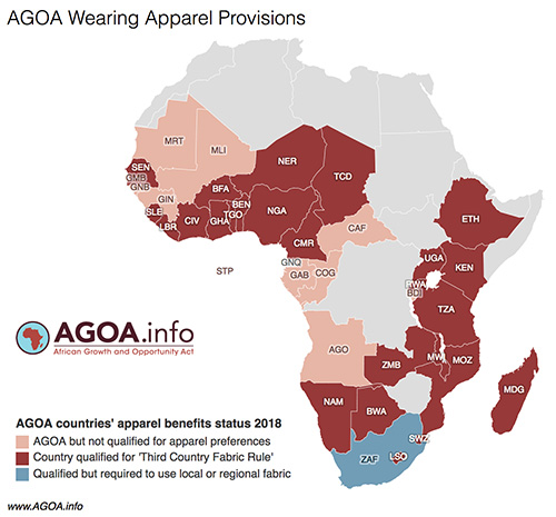 AGOAinfo apparel map 2018