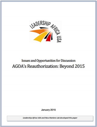 AGOA's Reauthorization: Beyond 2015
