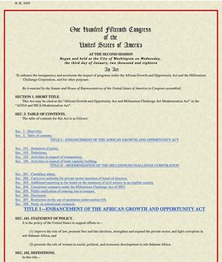 H.R.3445 - AGOA and MCA Modernization Act