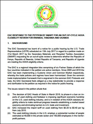 EAC response to SMART petition