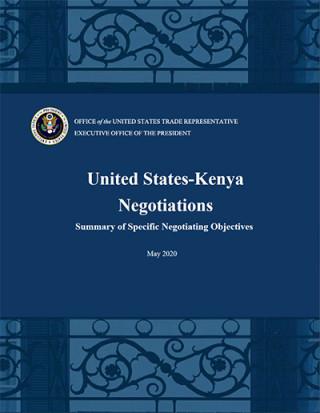 US-Kenya FTA negotiating principles - May 2020