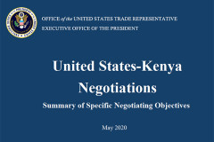 Details of US-Kenya FTA negotiating principles