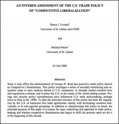 An interim assessment of the US Trade Policy of