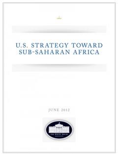 2012 US strategy towards Sub-Saharan Africa