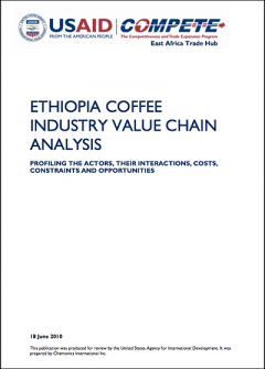 Ethiopia coffee industry value chain analysis (USAID / COMPETE 2010)