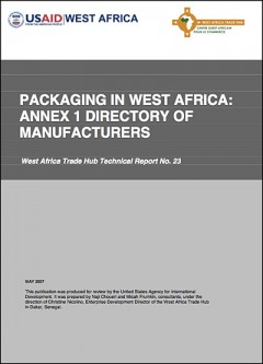 Packaging in West Africa - A resource guide (Tradehub) - ANNEX