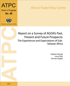 Report on a survey of AGOA's past, present and future prospects