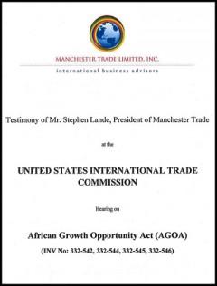 Stephen Lande - AGOA 2014 hearings - testimony