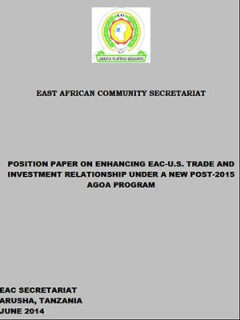 EAC Position Paper on enhancing EAC-US trade and investment under a post-2015 AGOA programme