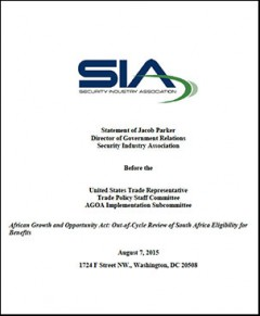 Security Industry Association submission - United States