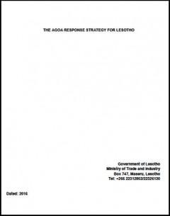 Lesotho - National AGOA Strategy