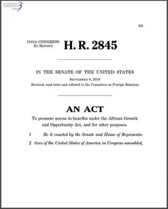 H. R. 2845 - AGOA Enhancement Act of 2015